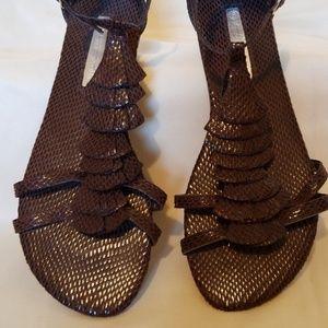 Shoes - Snakeskin Sandals